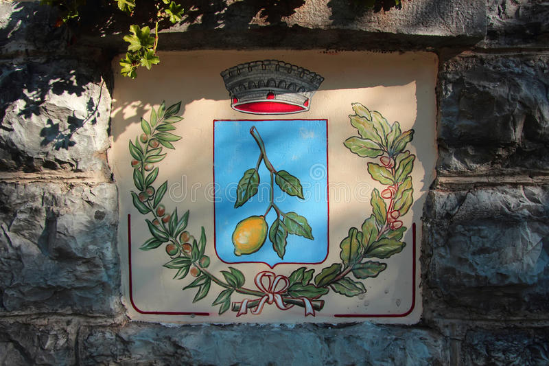 Герб с изображением ветви города лимона стоковое фото rf