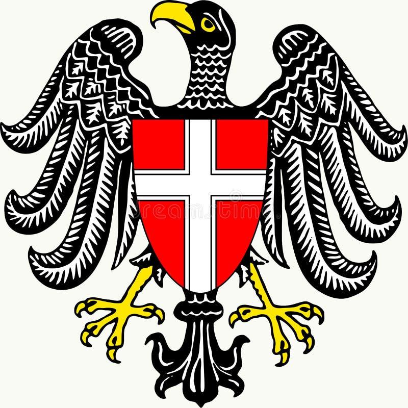 Герб федеративного государства вены - Австрии иллюстрация вектора