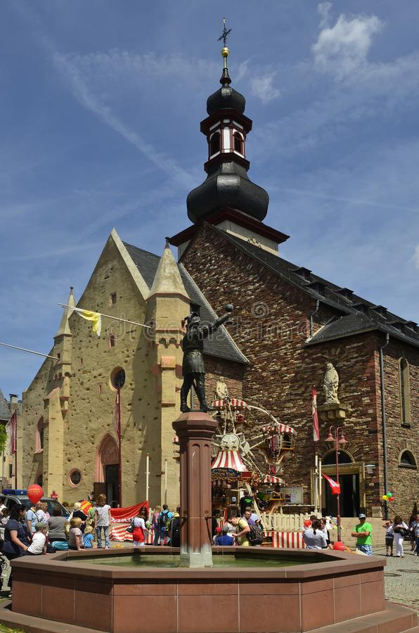 Германия, долина Рейна, Ruedesheim стоковое изображение