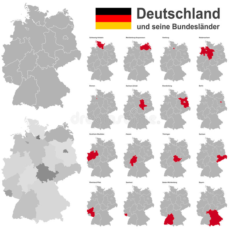Германия и федеративные государства иллюстрация штока