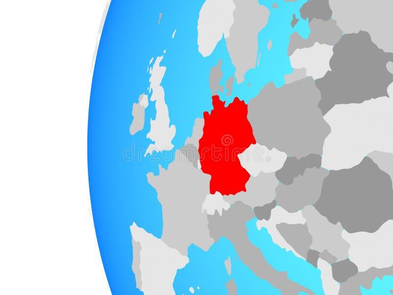 Германия на глобусе бесплатная иллюстрация