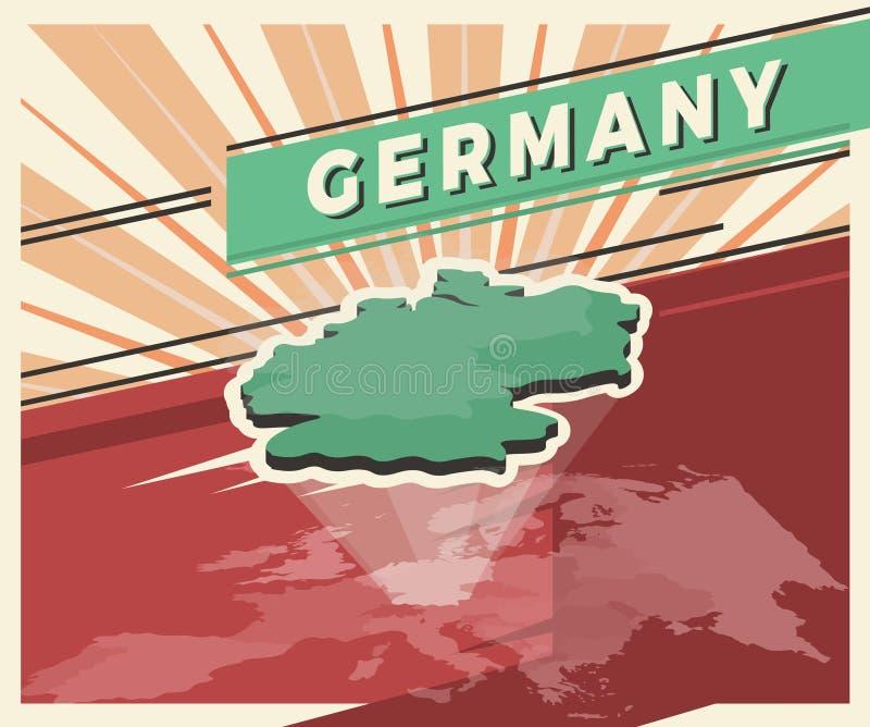 Германия обнаруживает местонахождение карту иллюстрация штока