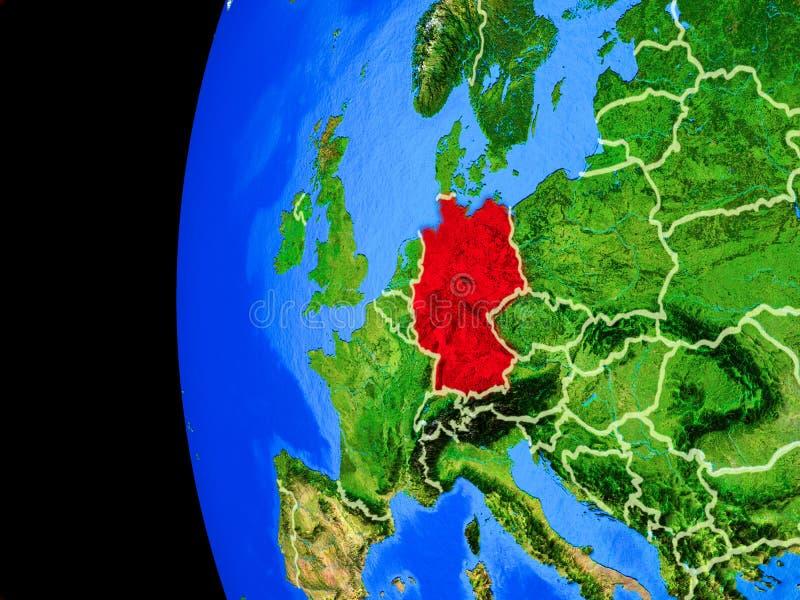 Германия от космоса иллюстрация штока