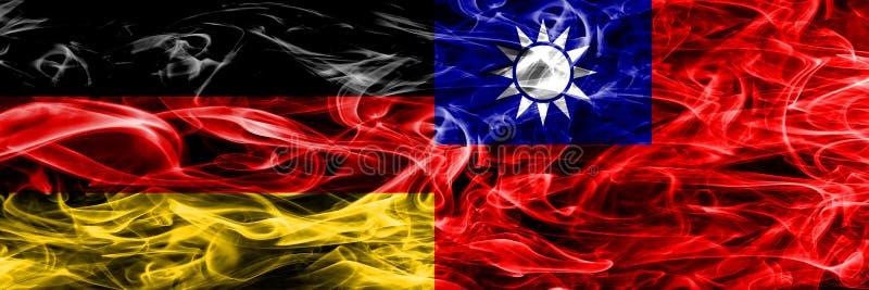 Германия против дыма Тайваня сигнализирует помещенную сторону - мимо - сторона Немец и животики бесплатная иллюстрация
