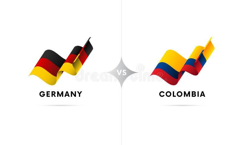 Германия против Колумбии Футбол также вектор иллюстрации притяжки corel бесплатная иллюстрация