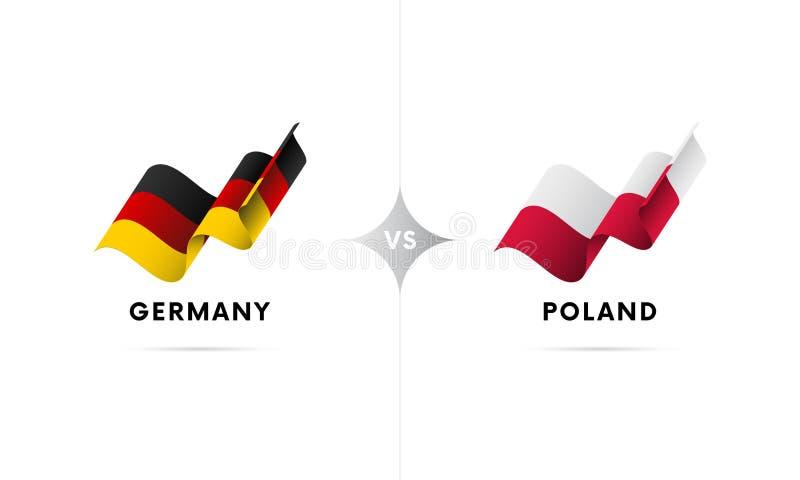 Германия против Польши Футбол также вектор иллюстрации притяжки corel иллюстрация вектора