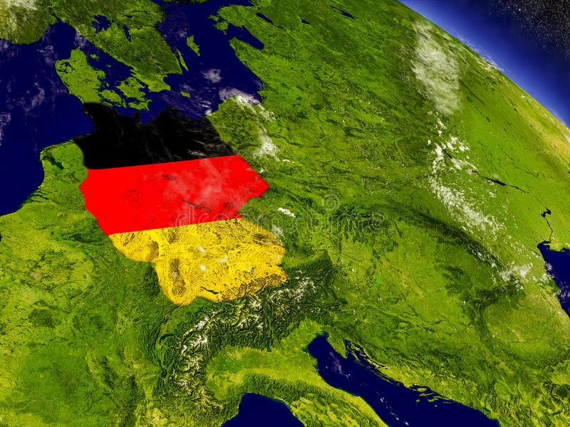 Download Германия с врезанным флагом на земле Иллюстрация штока - иллюстрации насчитывающей федеральное, иллюстрация: 81810579