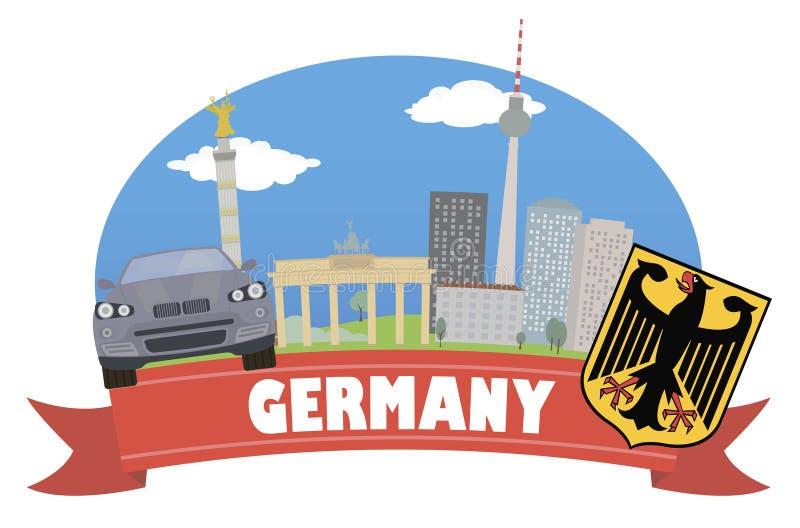 Германия Туризм и перемещение иллюстрация штока