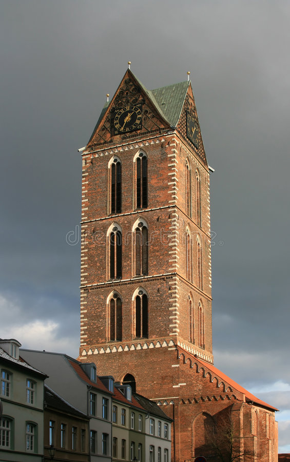 Германия marien башня st wismar стоковое изображение rf