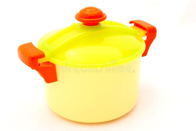 Герметическая электрическая кастрюля пластмассы игрушки стоковое изображение rf