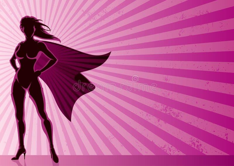 героиня предпосылки супер иллюстрация вектора