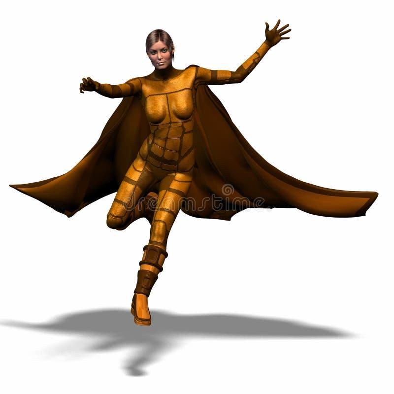 героиня 2 супер иллюстрация вектора