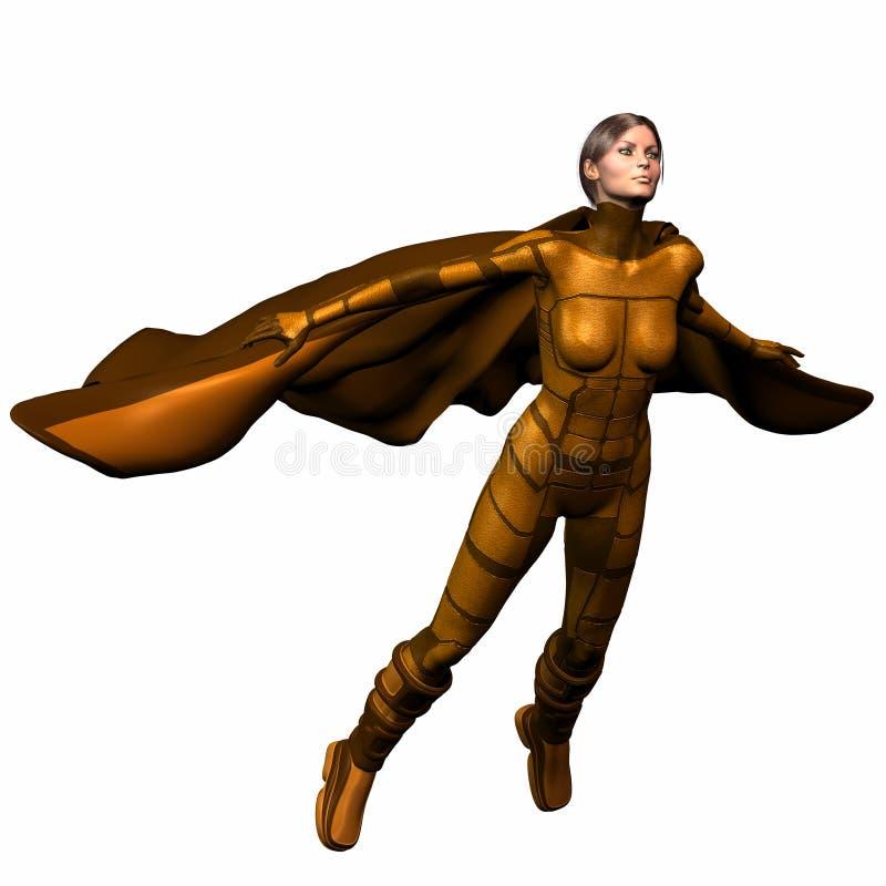 героиня 3 супер иллюстрация штока