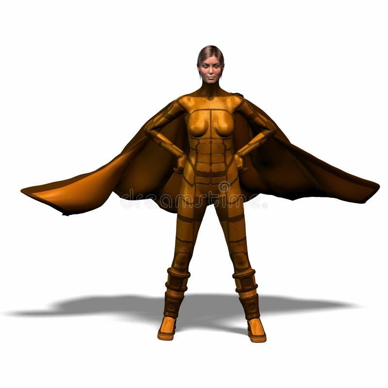 героиня 4 супер иллюстрация вектора