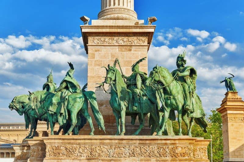 Герои Квадрат-был один из главных квадратов в Будапеште, Венгрии, стоковое фото rf