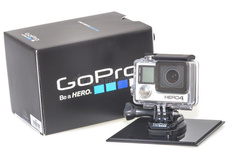 Герой 4 GoPro стоковые фотографии rf