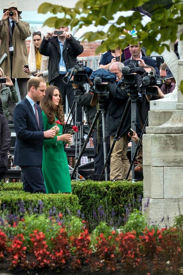 Герцог и Duchess Кембриджа стоковое изображение rf