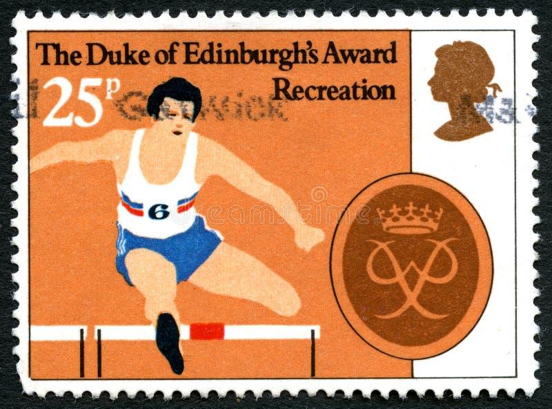Герцог штемпеля почтового сбора Великобритании награды Эдинбурга стоковое изображение