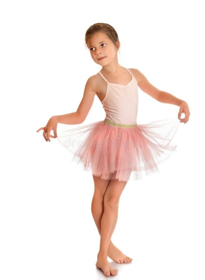 Гибкая маленькая балерина стоковое изображение