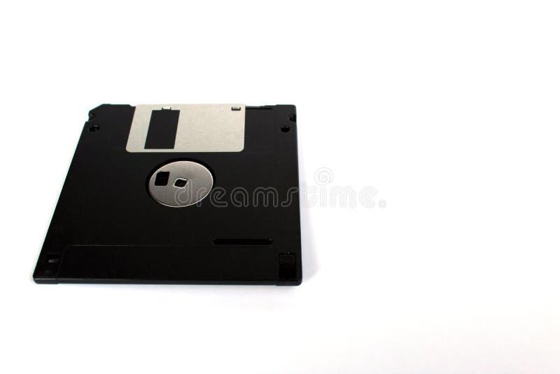 Гибкий магнитный диск изолированный на белом взгляде перспективы задней стороны предпосылки стоковое фото rf