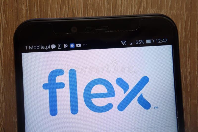 Гибкий трубопровод Ltd логотип показанный на современном смартфоне стоковые фотографии rf
