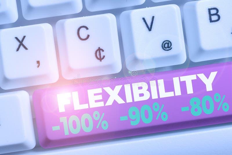 Гибкость текста для письма 100 процентов 90 процентов 80 процентов бизнес-концепция: насколько гибко вы находитесь стоковое изображение rf