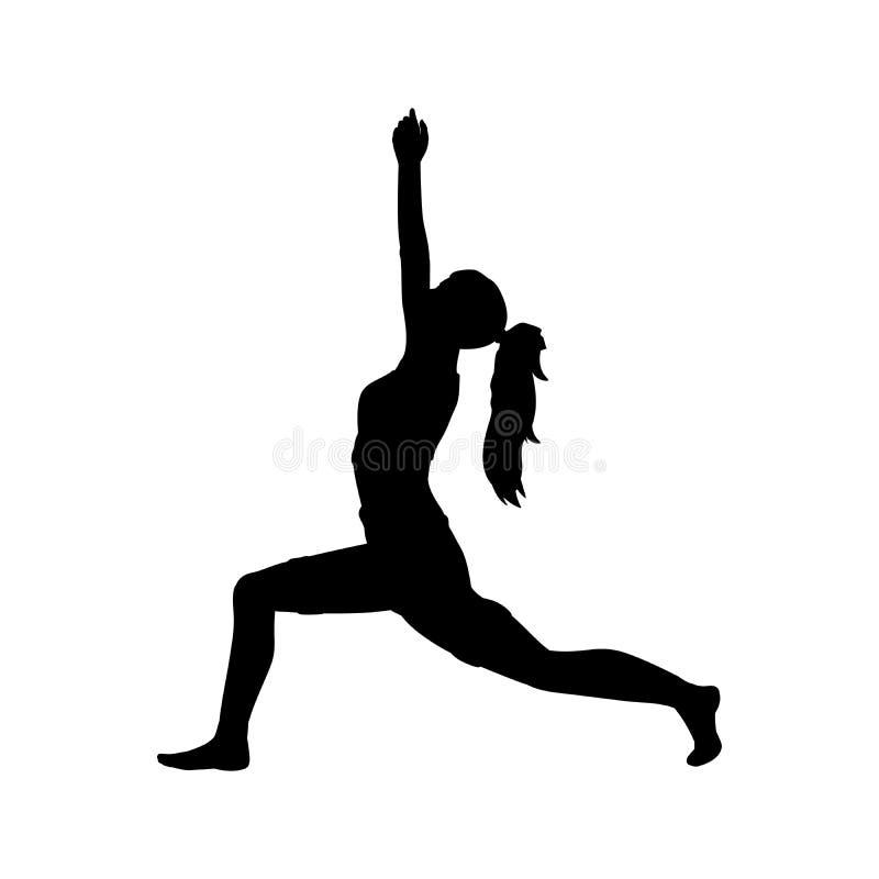 Гибкость тренировки представления йоги девушки силуэта бесплатная иллюстрация