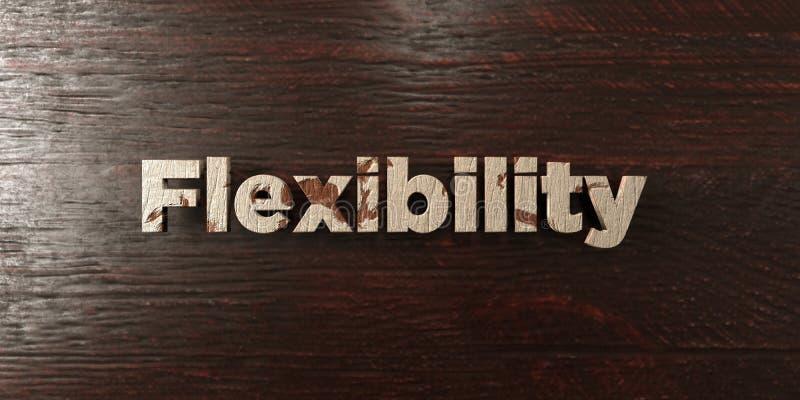 Гибкость - grungy деревянный заголовок на клене - представленное 3D изображение неизрасходованного запаса королевской власти бесплатная иллюстрация