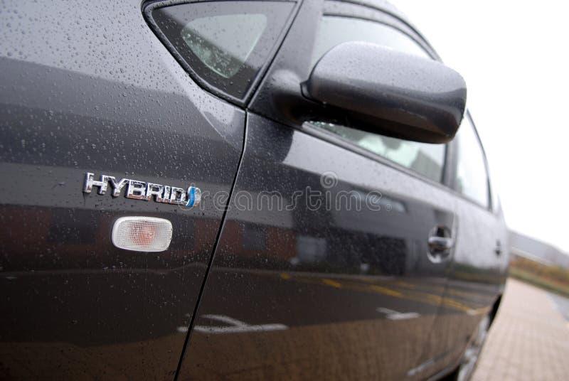 гибрид автомобиля электрический стоковая фотография rf