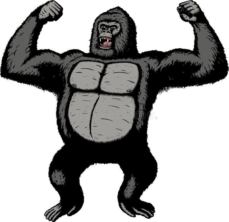 гигантская горилла иллюстрация штока