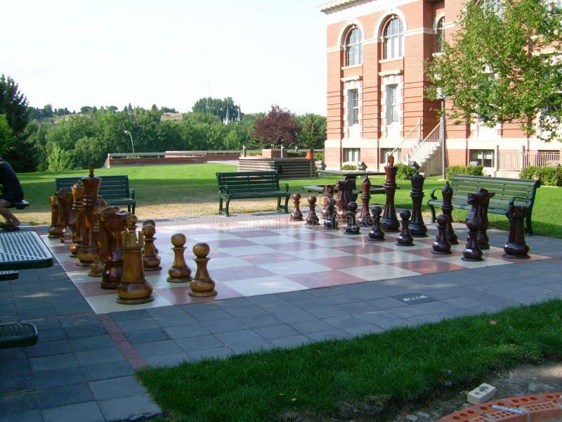 Гигантская игра шахмат стоковые изображения