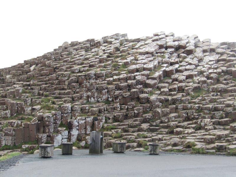 Гигантская мощёная дорожка ` s, Северная Ирландия стоковое изображение rf