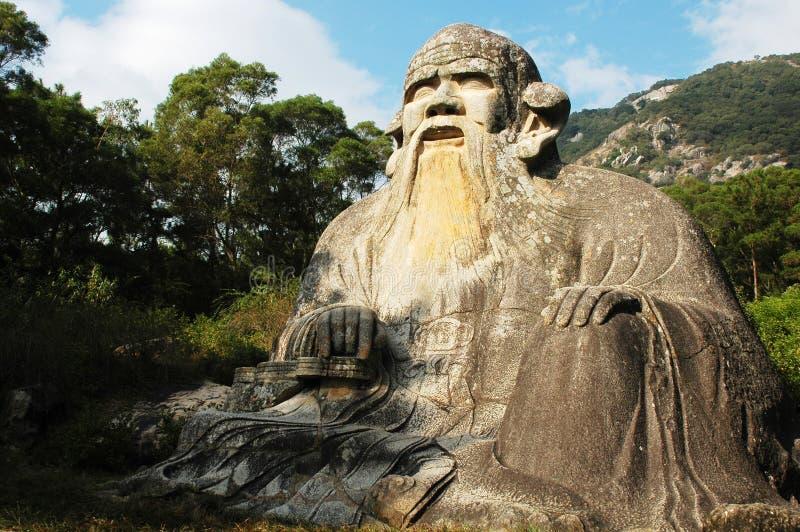 гигантская статуя laozi стоковое изображение rf