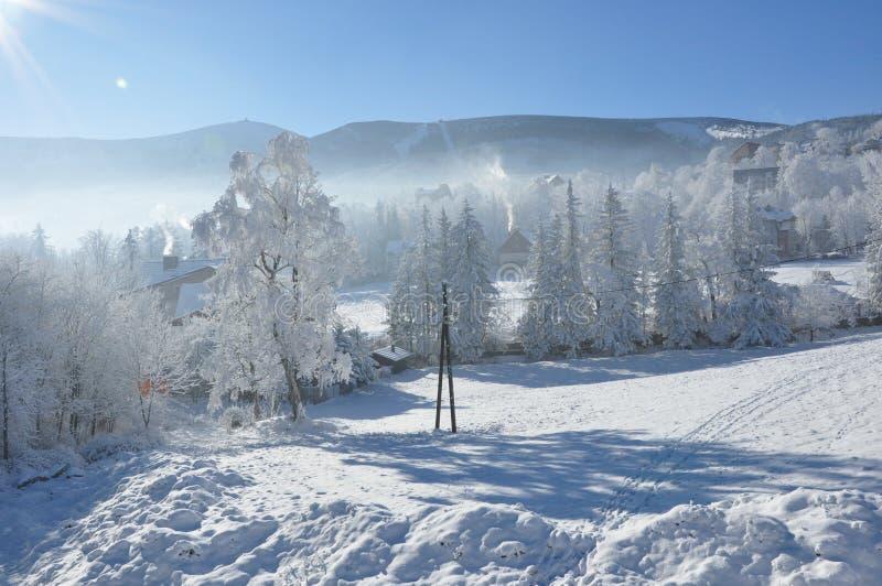 Гигантские горы/Karkonosze, зима Karpacz стоковая фотография