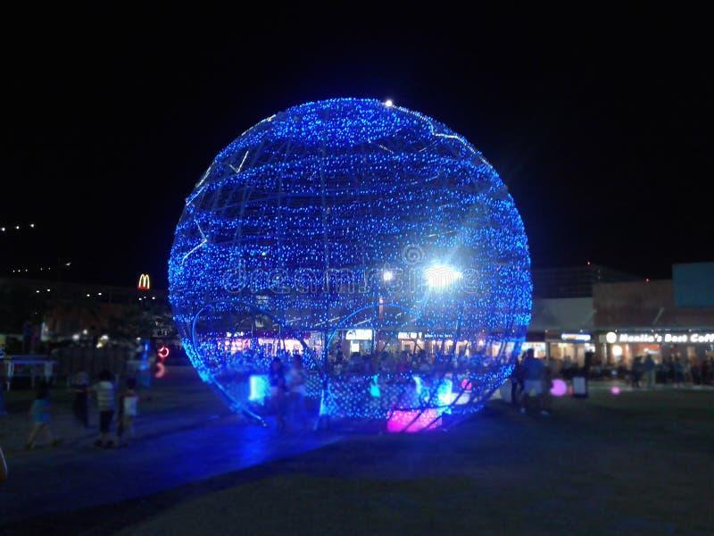 Гигантский голубой свет стоковые фотографии rf