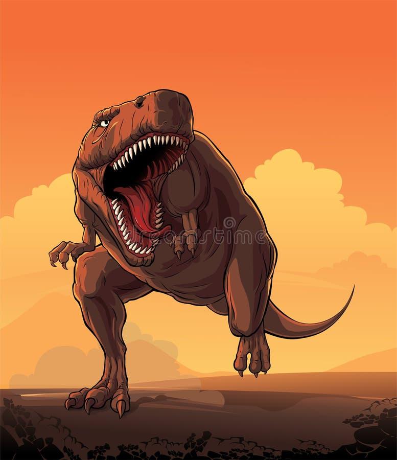 Гигантский динозавр: T-rex иллюстрация вектора