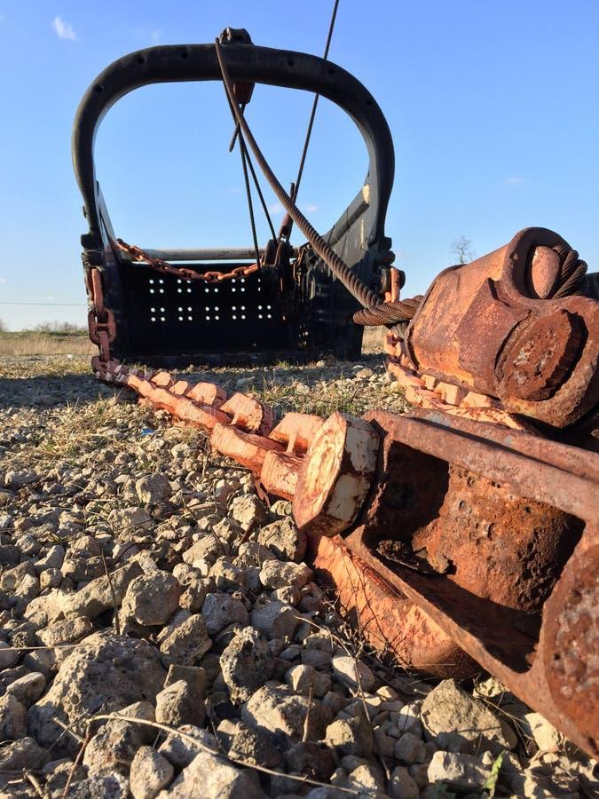 Гигантское ведро лопаткоулавливателя минирования стоковое фото