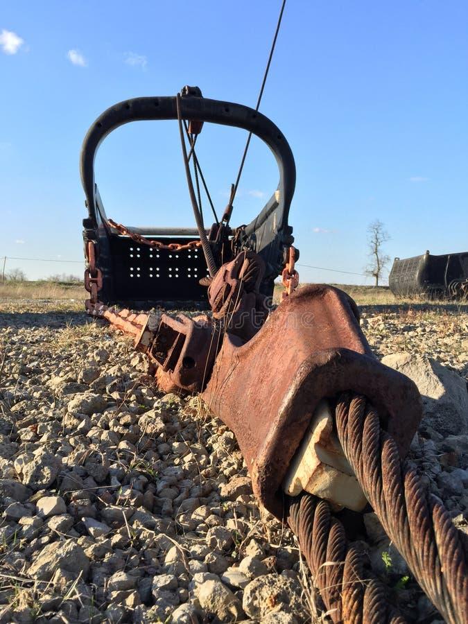 Гигантское ведро лопаткоулавливателя минирования стоковое изображение