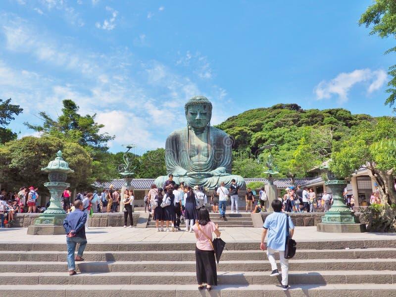 Гигант Будда внутри Kotoku-в виске на Камакуре стоковое фото rf
