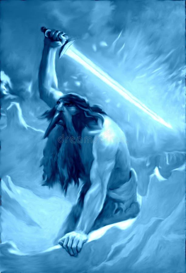 Гигант на льде и своей накаляя шпаге бесплатная иллюстрация