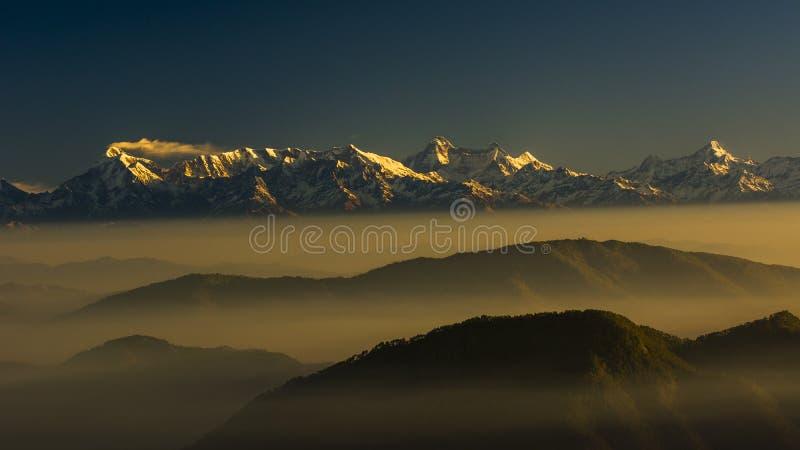 Гималаи утра стоковое изображение