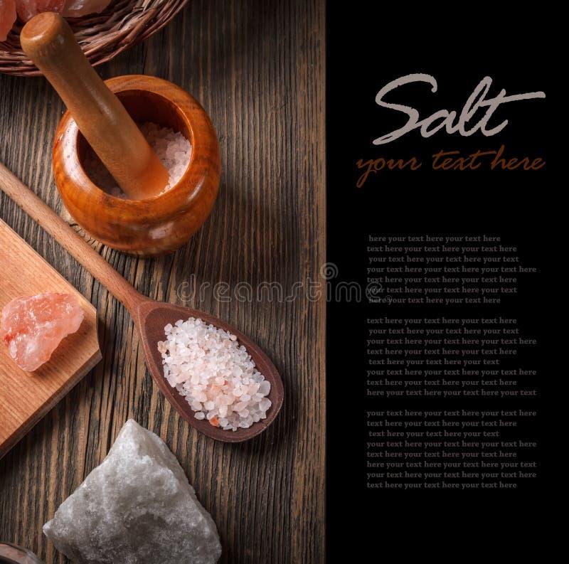 Гималайское розовое соль стоковая фотография