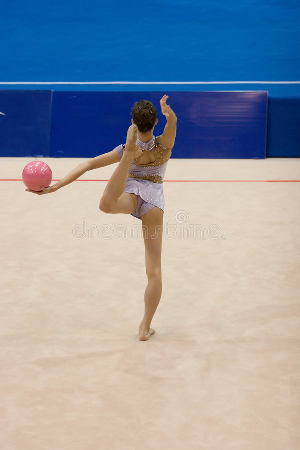 гимнастика звукомерная стоковая фотография