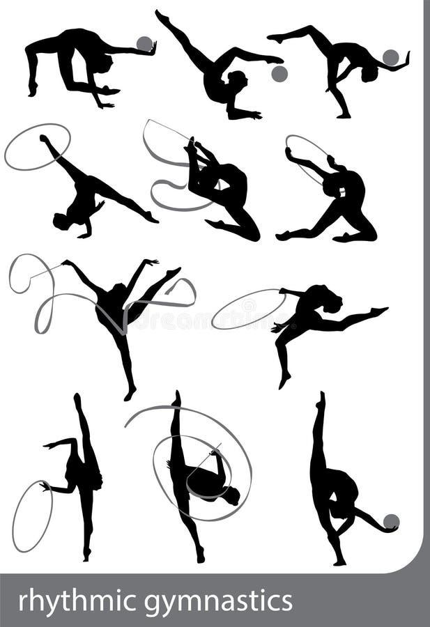 гимнастика звукомерная иллюстрация вектора