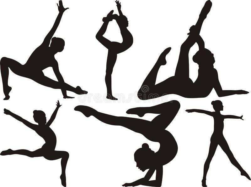 Гимнастика и пригодность бесплатная иллюстрация