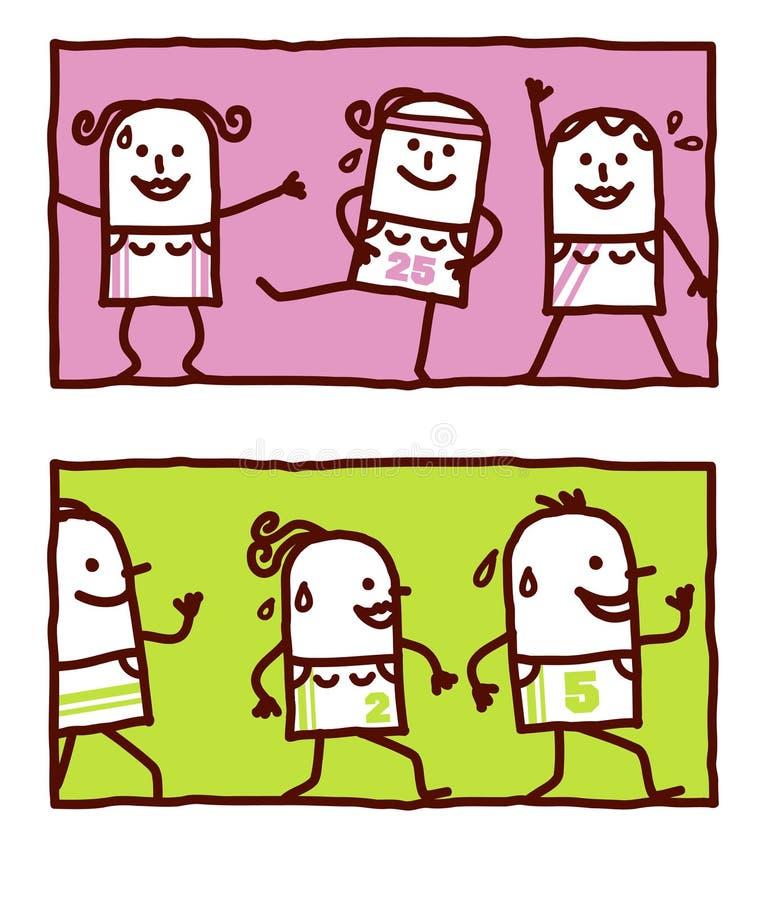 гимнастический jogging иллюстрация штока