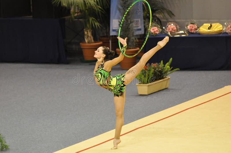 гимнастическое isra l risenson irena звукомерное стоковая фотография