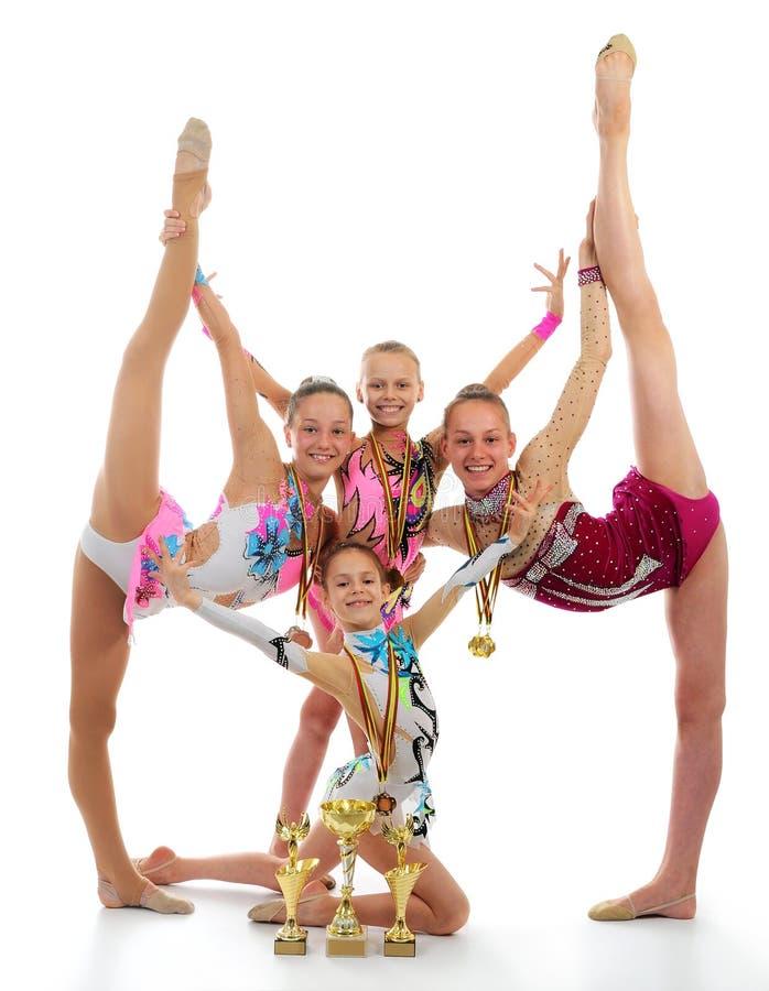 гимнасты молодые стоковое изображение
