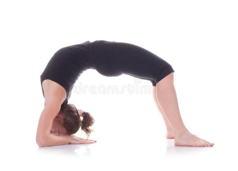 гимнаст девушки стоковая фотография rf