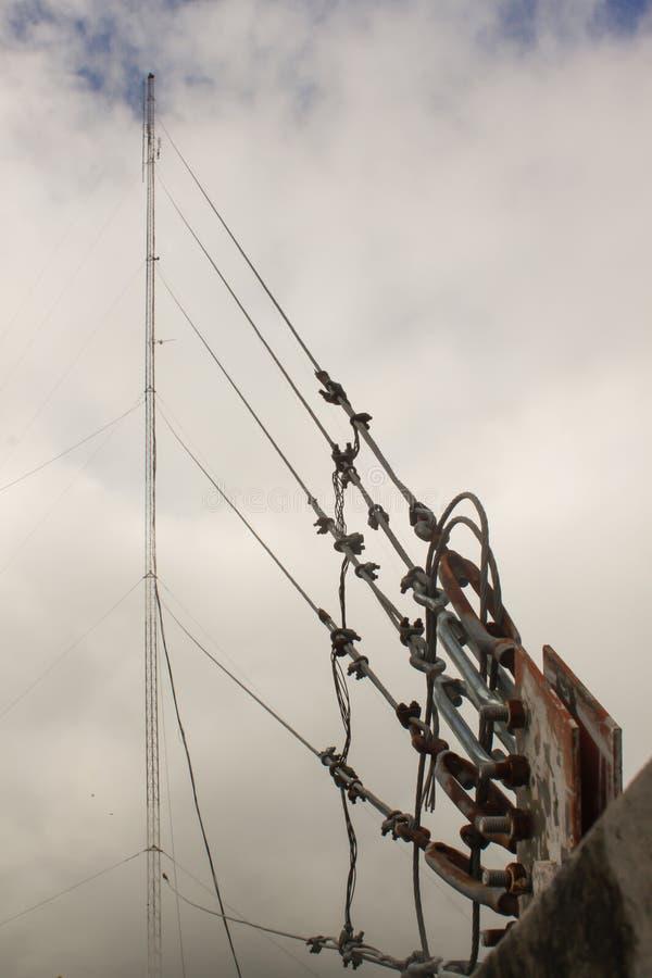 гимна Scape держателя и облака антенны стоковая фотография rf